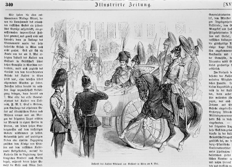 Ankunft von Kaiser Nikolaus I. von Russland
