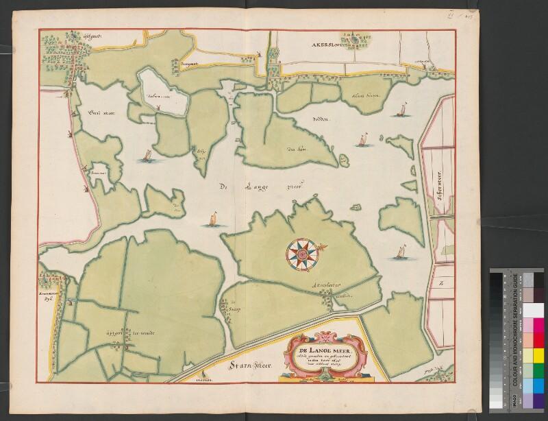 Landkarte des Alkmaardermeers (Lange Meer)