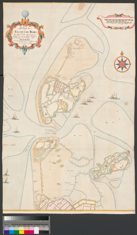 Landkarte von Texel, Huisduinen und Wieringen