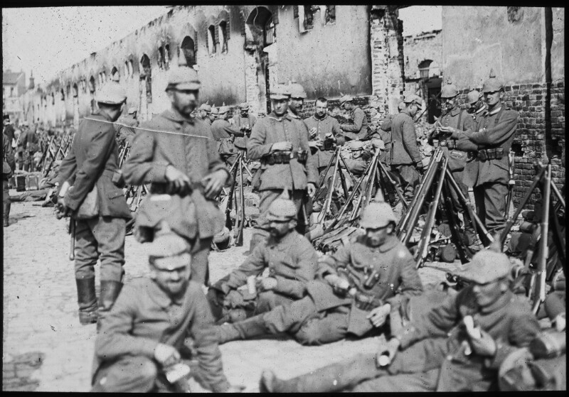 Rastende deutsche Soldaten