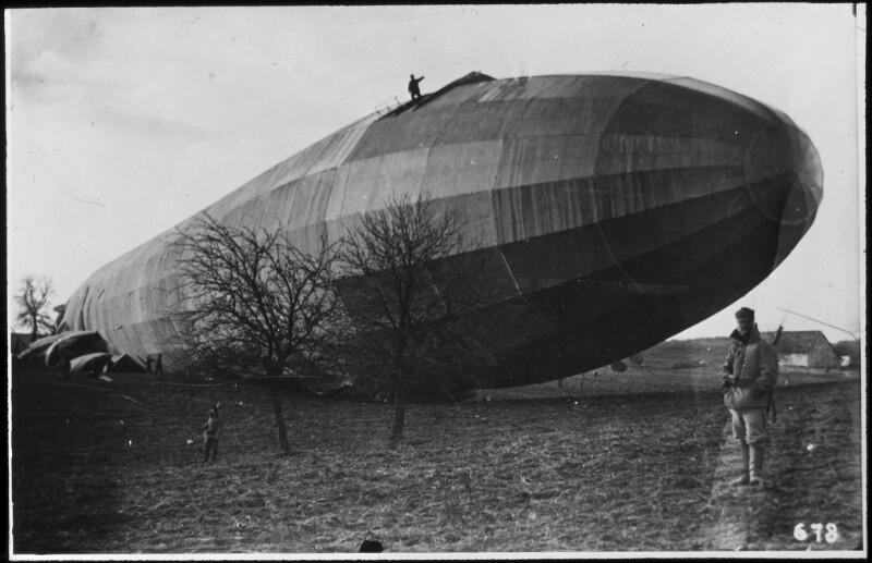 Abgestürzter Zeppelin