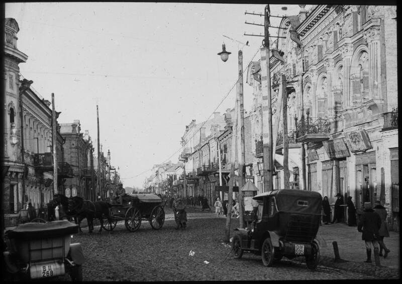 Straßenszene in Luck, 1916