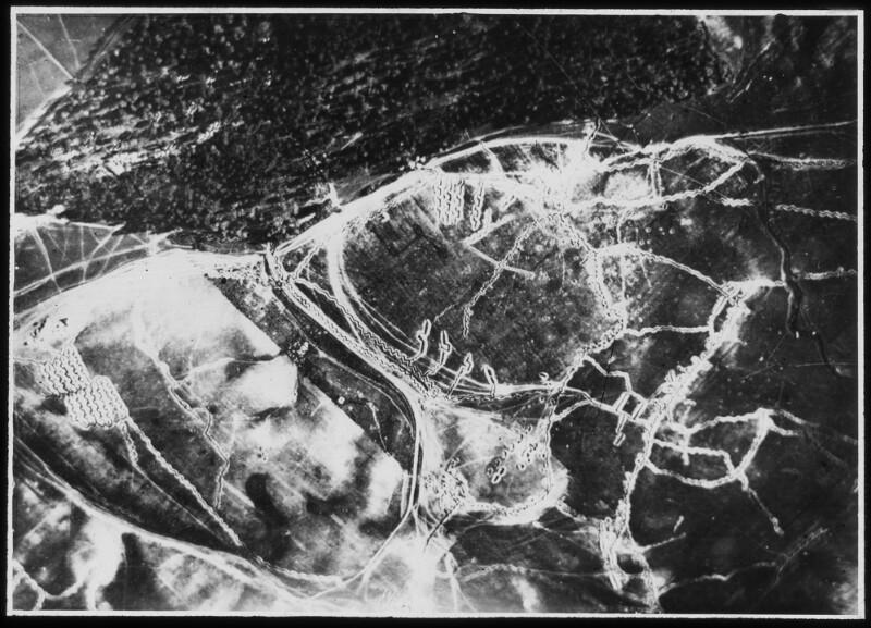 Luftaufnahme der Stellung westlich von Olyka