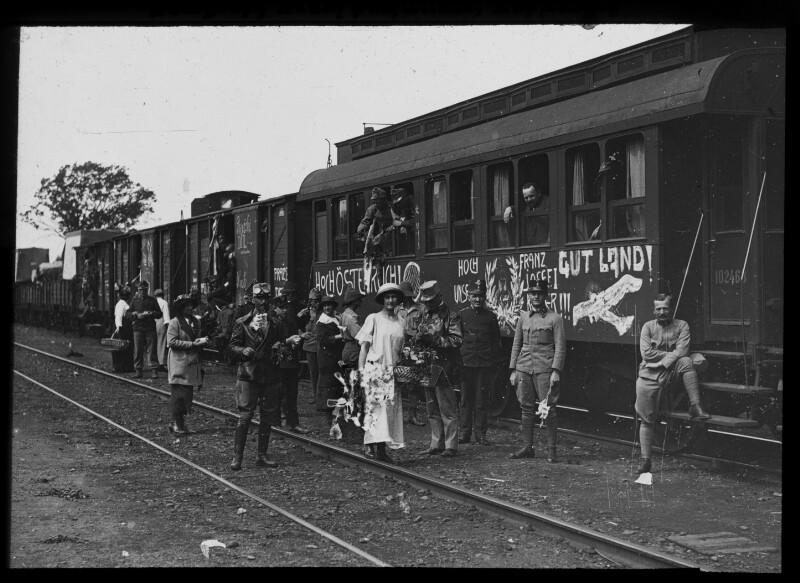 Abfahrt aus Wien an die Front, August 1914