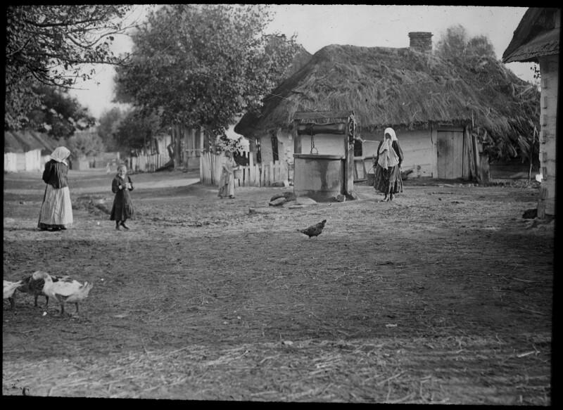 Dorfszene im Osten