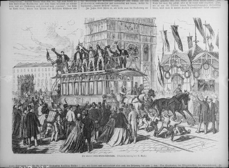 Erste Pferdetramway in Wien