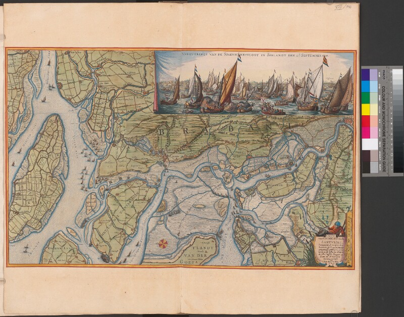 Landkarte zur Schlacht am Fluss Schelde im Jahr 1631
