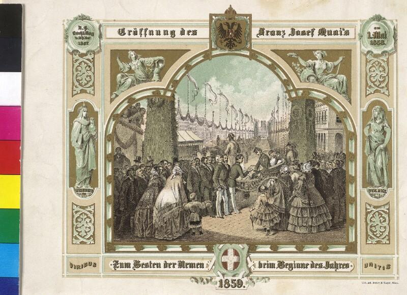 Wien, Eröffnung des Franz Josefs-Kai