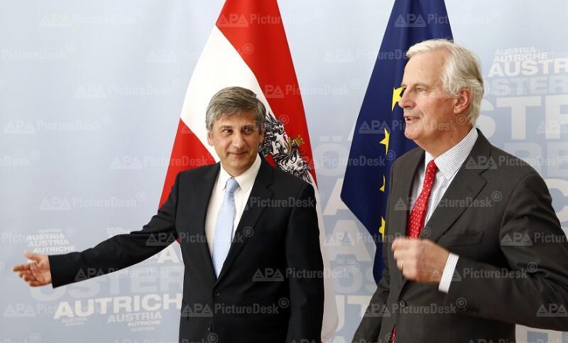 Vizekanzler Spindelegger empfängt EU-Kommissar Barnier