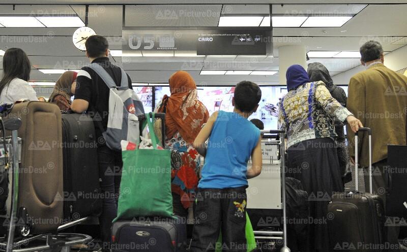 Ägypten-Unruhe: Passagiere am Flughafen Wien-Schwechat