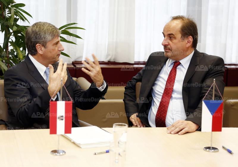 Außenminister Spindelegger trifft tschechischen Amtskollegen Kohout