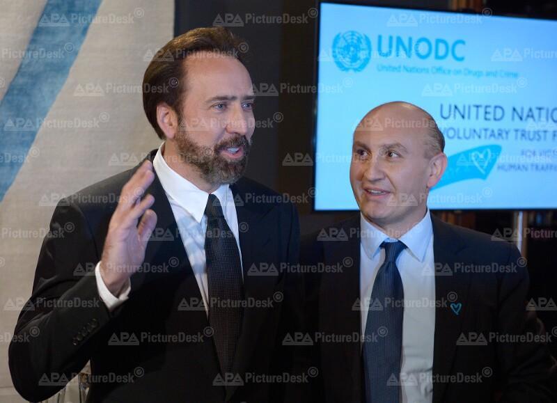 UNO-Sonderbotschafter Nicolas Cage in Wien