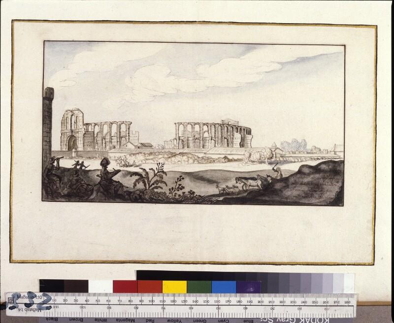 Amphitheater in Bordeaux, vom Osten aus gesehen