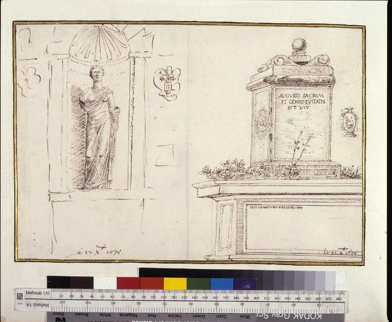 Römische Altertümer mit Inschriften