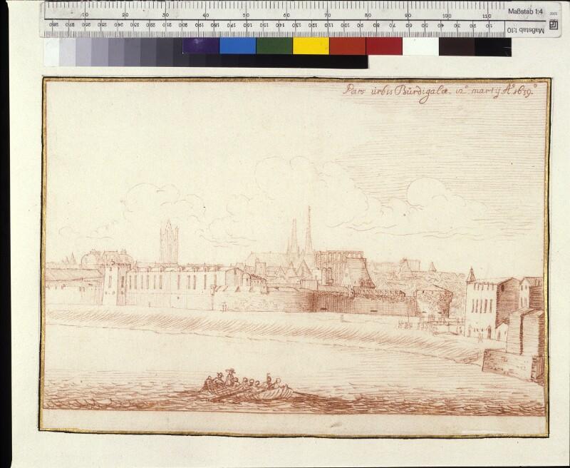 Ansicht von Bordeaux vom Nordosten
