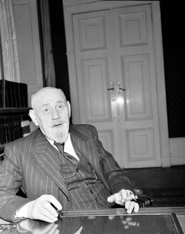 Dr. Karl Renner, Präsident von Österreich, gestorben am 31. Dezember 1950 mit 80 Jahren.