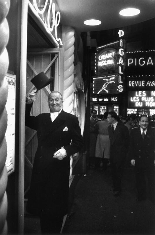 Texter und Komponist Maurice Chevalier, Paris, 1954