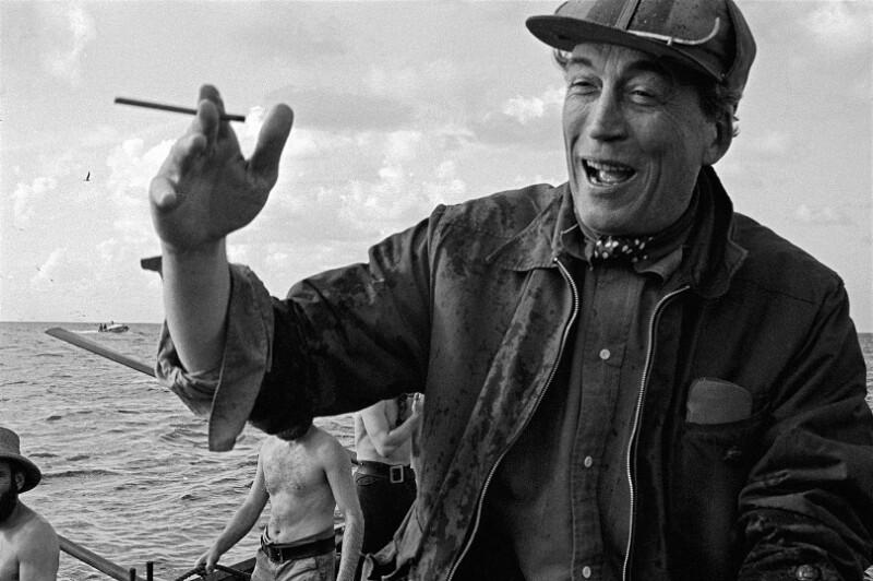 "Dreharbeiten zum Film ""Moby Dick"" - Regisseur John Huston, Kanarische Inseln, 1954"