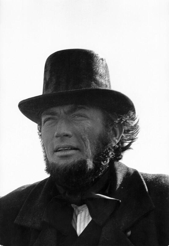 "Dreharbeiten zum Film ""Moby Dick"" -Gregory Peck als Kapitän Ahab, Kanarische Inseln, 1954"
