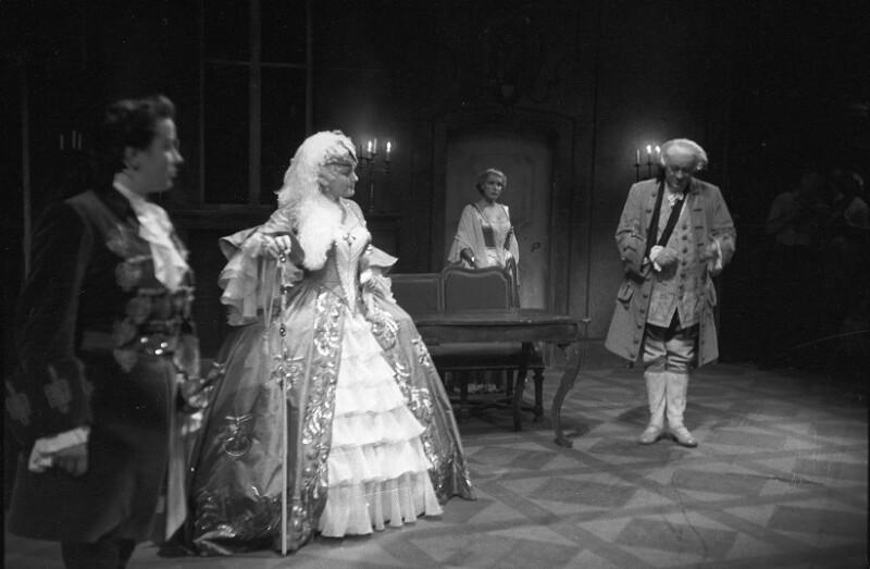 """""""Der Rosenkavalier"""" bei den Salzburger Festspielen 1955, mit Irmgard Seefried, Maria Reining und Kurt Boehme"""