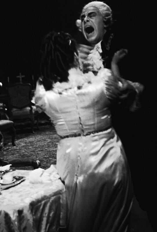 """Puccinis """"Tosca"""" an der Wiener Staatsoper, mit Carla Martinis als Tosca und George London als Scarpia."""