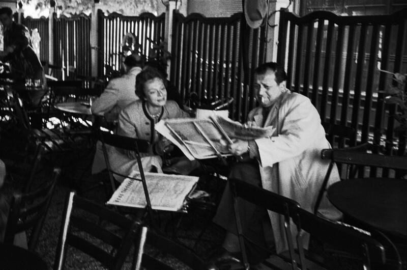 Friedrich Torberg und seine Frau Marietta im Café Bazaar