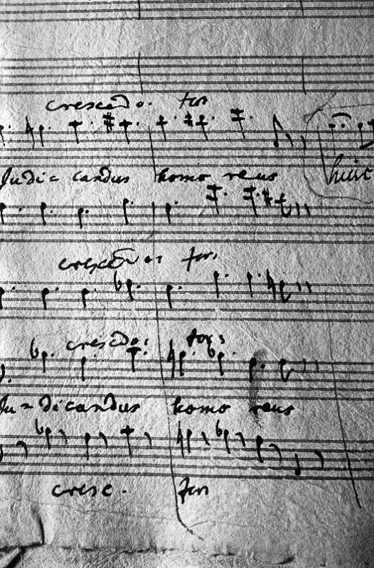Die letzte Seite von Wolfgang Amadeus Mozarts Requiem