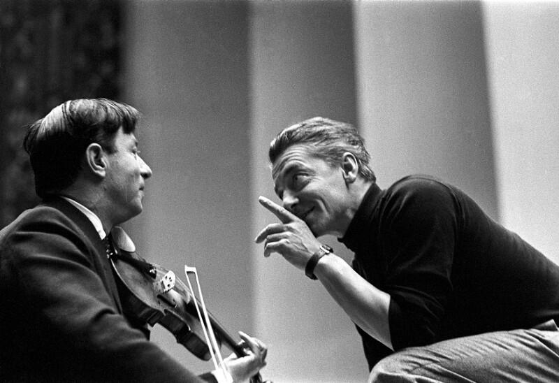 Nathan Milstein und Herbert von Karajan, Luzern, 1957