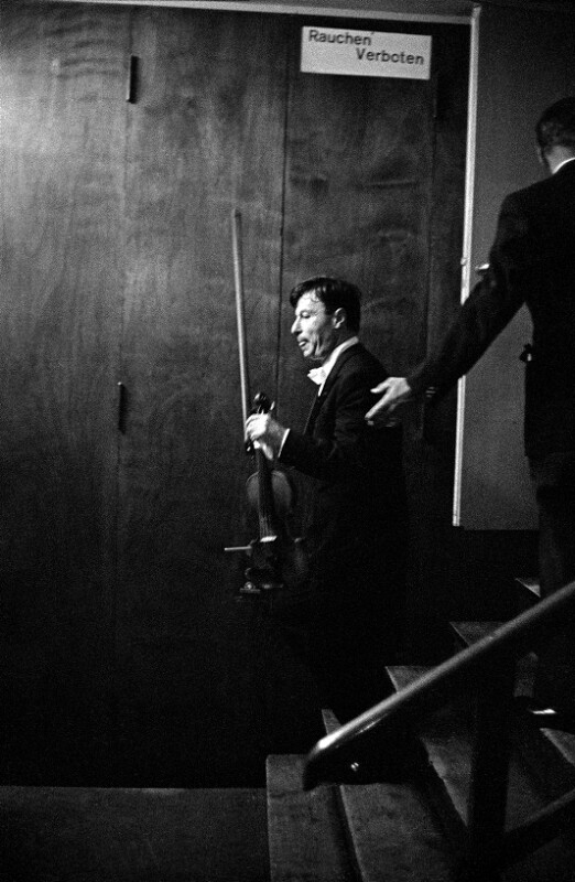 Nathan Milstein beim Festival von Luzern, 1957