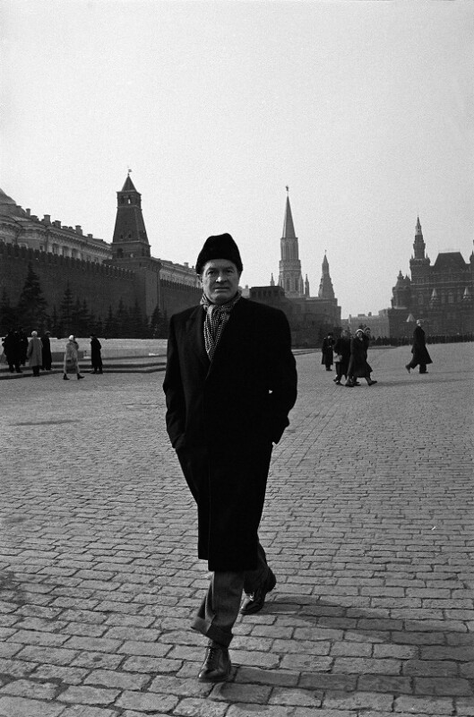 Bob Hope am Roten Platz, Moskau, 1958