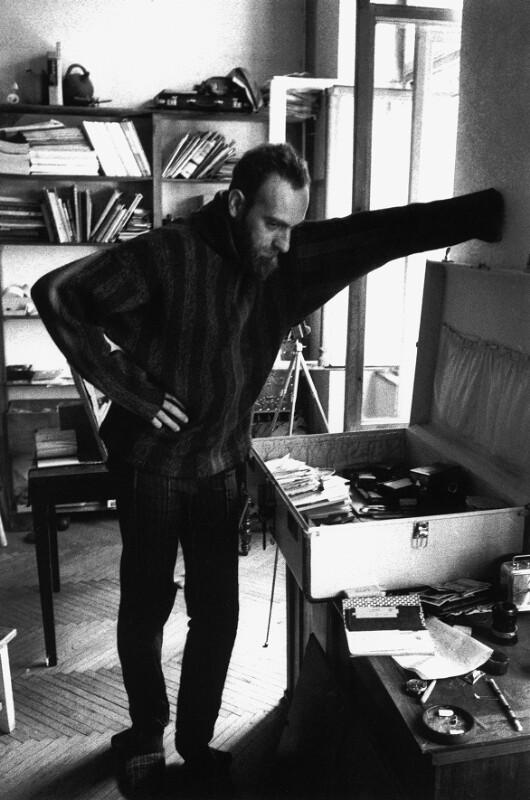 Der österreichische Maler Friedensreich Hundertwasser, Wien, 1962