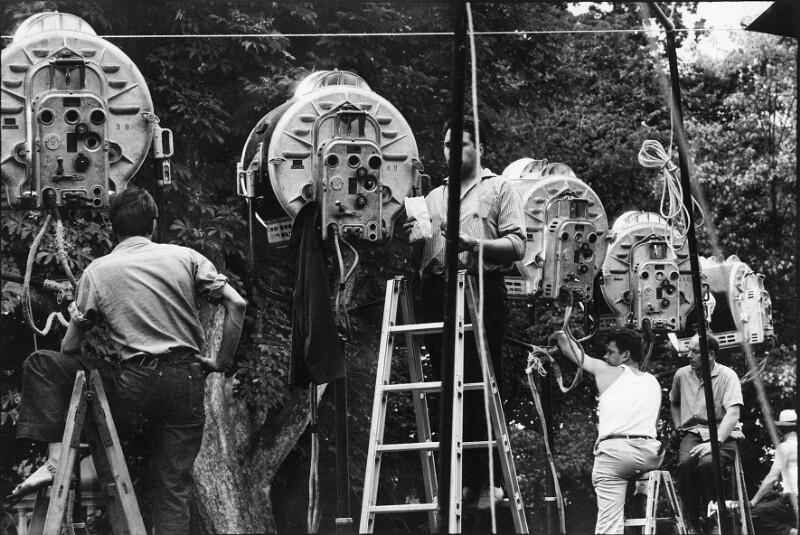"""Während der Dreharbeiten zu """"The Sound of Music"""", Salzburg, 1964"""