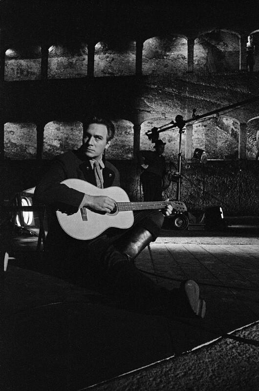 "Christopher Plummer bei den Dreharbeiten zu ""The Sound of Music"", Salzburg, 1964"