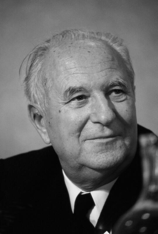Der niederländische Politiker Sicco Mansholt, von 1972 bis 1973 Präsident der Europäischen Kommission