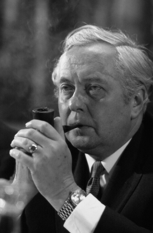 Der britische Premierminister Harold Wilson