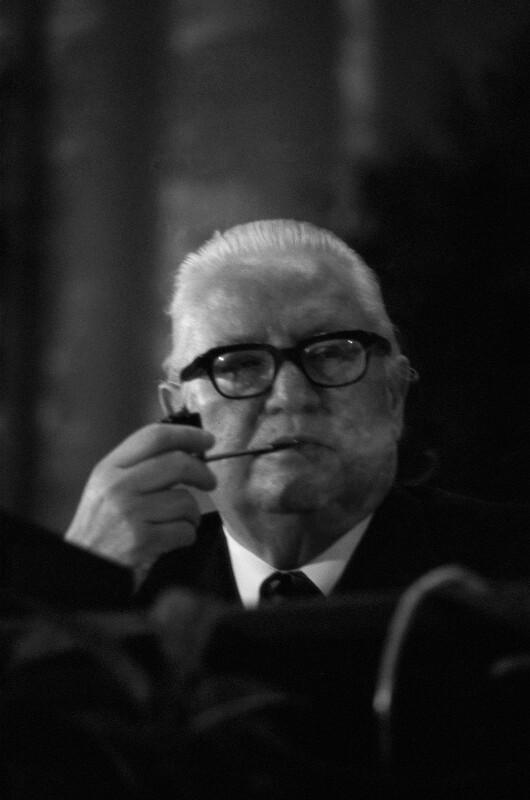 Bruno Pittermann, SPÖ-Vorsitzender und Vizekanzler