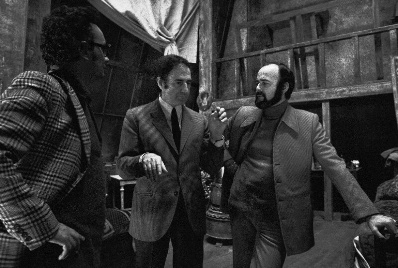 Der Komponist Gian Carlo Menotti mit dem Sänger José van Dam
