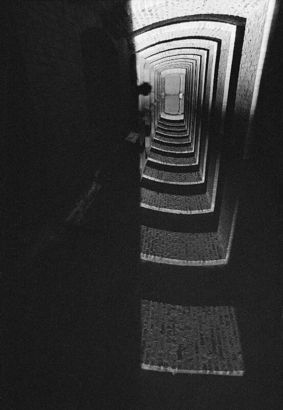 Zisterne in den Fundamenten der Pariser Oper im Palais Garnier, 1973