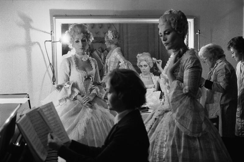 """Während der Proben zu Richard Strauss' """"Der Rosenkavalier"""" an der Pariser Oper, 1973"""