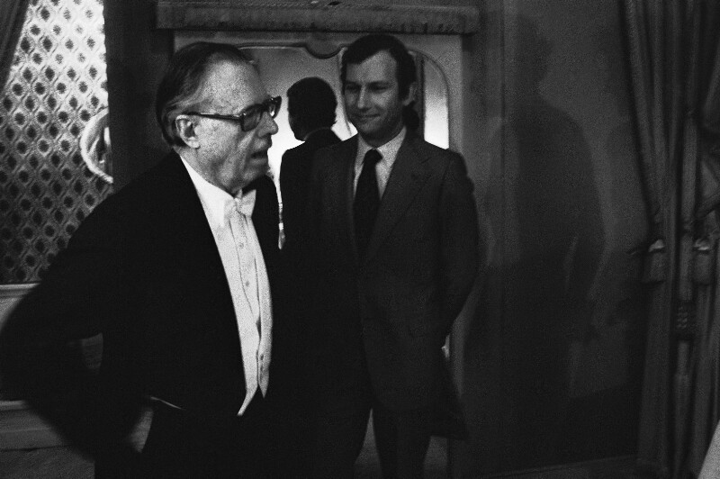 Karl Böhm am Pariser Opernhaus im Palais Garnier, 1973