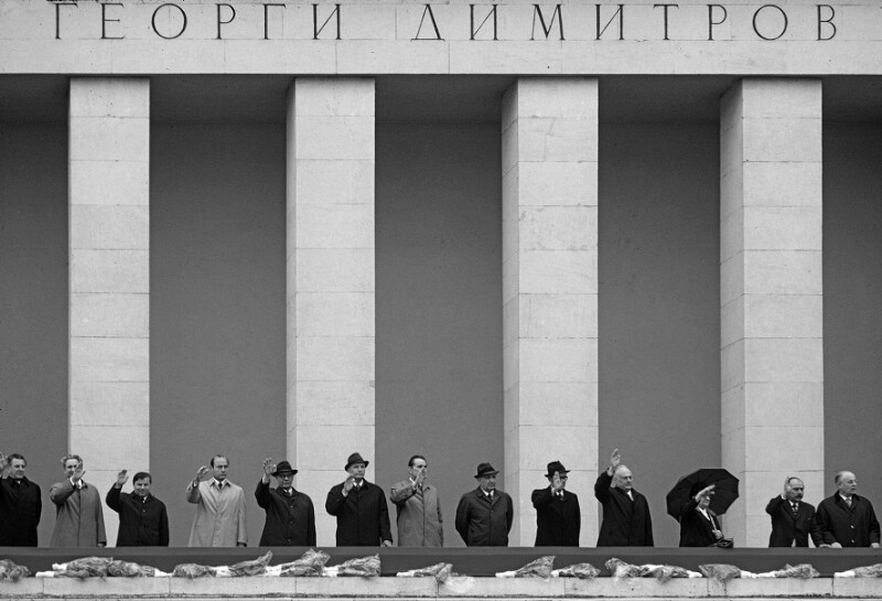 Führer der kommunistischen Partei Bulgarien anlässlich eines nationalen Feiertages, Sofia, 24. Mai 1973