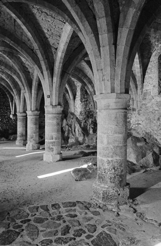 Gotische Kellergewölbe, Schloss Chillon, Schweiz