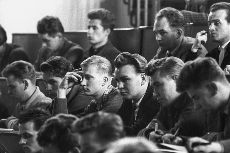 Studenten der Technischen Universität in Dresden, 1959