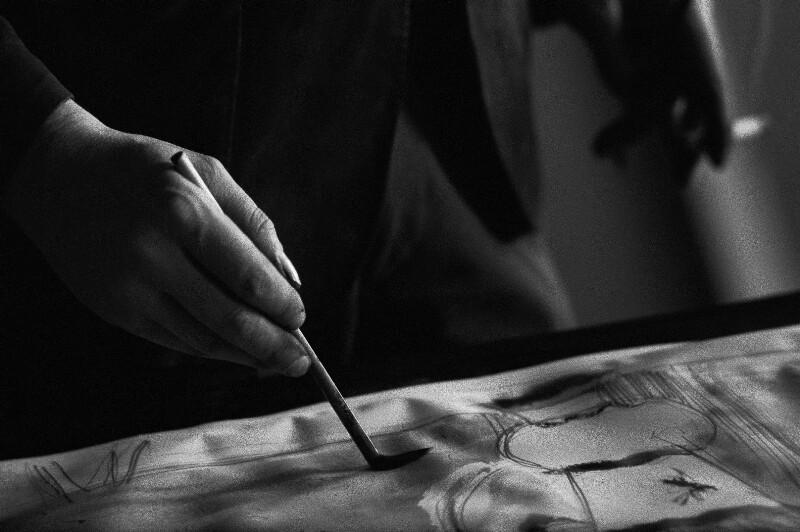 Der Maler Bernard Buffet bei der Arbeit, Paris, 1961