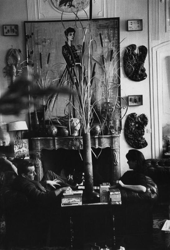 Der Maler Bernard Buffet und seine Frau Annabel, Paris, 1961