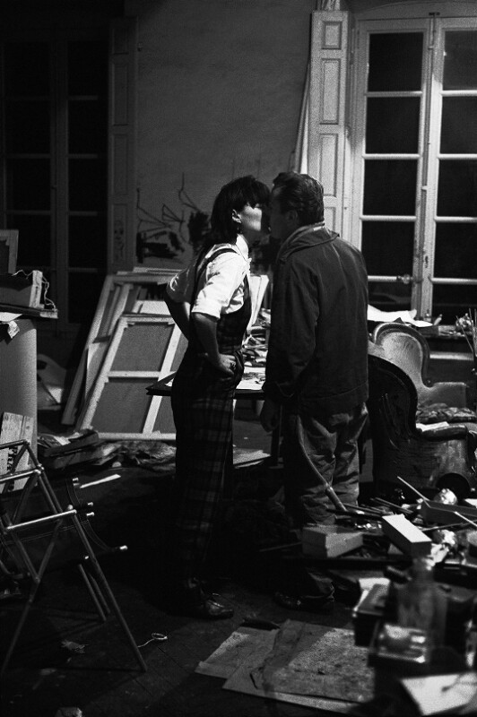 Maler Bernard Buffet und seine Frau Annabel, Paris, 1961