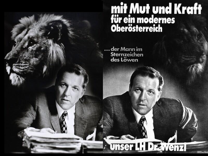 Wahlplakat für Erwin Wenzl