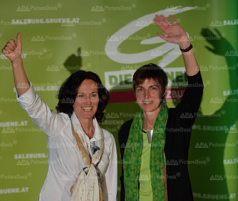 Astrid Rössler und Bundessprecherin Eva Glawischnig  bei der Wahlkampf-Veranstaltung