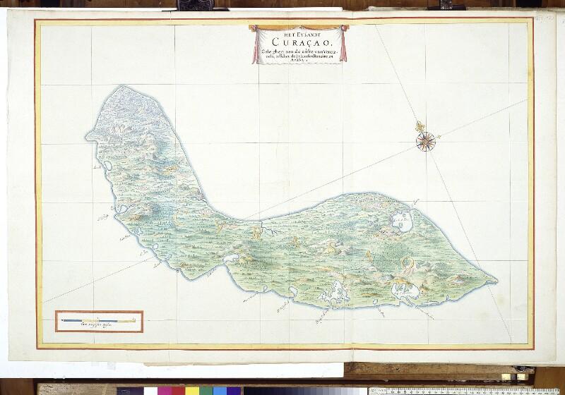 Landkarte von Curaçao