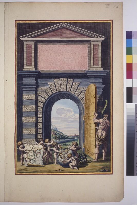 Frontispiz Atlas Maior, Teil vier, zweites Buch